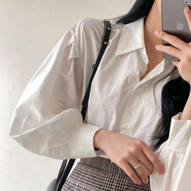 ベーシックパフ袖シャツ