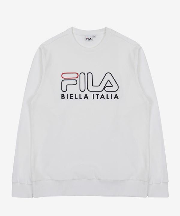 [휠라]FILA 3D 로고 자수 스웨트 셔츠_OFF WHITE