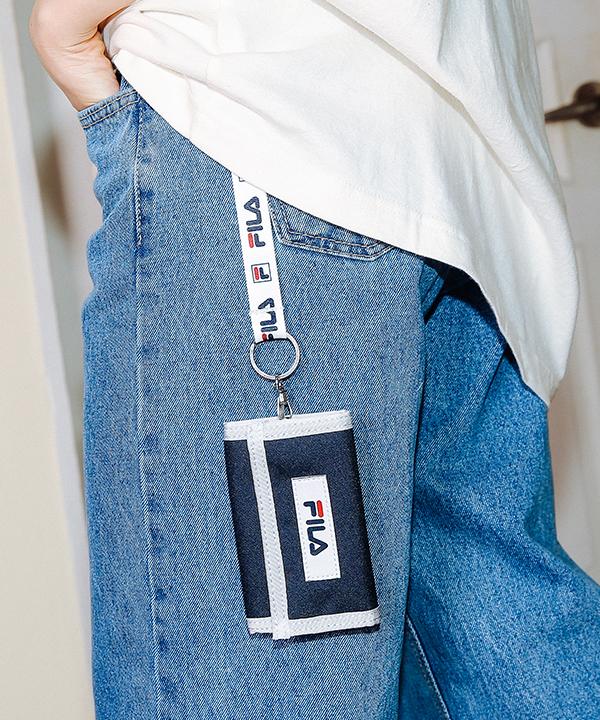 [휠라]스몰 리니어 로고 지갑