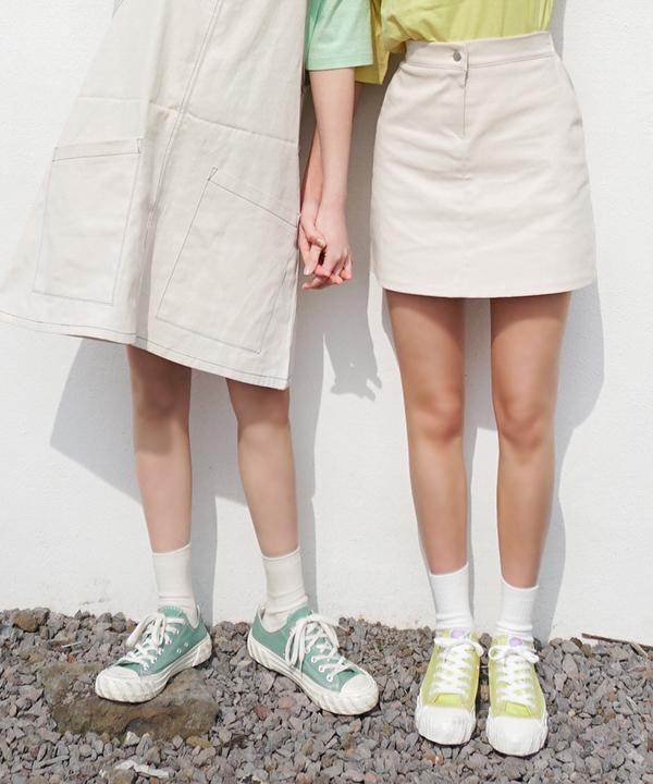 糖果色餅乾帆布鞋