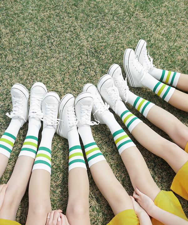 3ラインポイント靴下