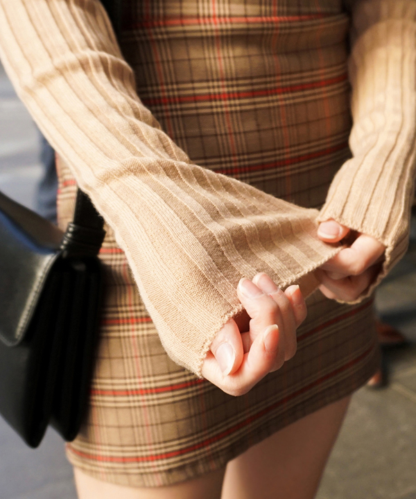 基本款內搭圓領針織上衣(6色)