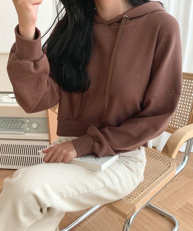 俏皮露臍短版連帽上衣(9色)