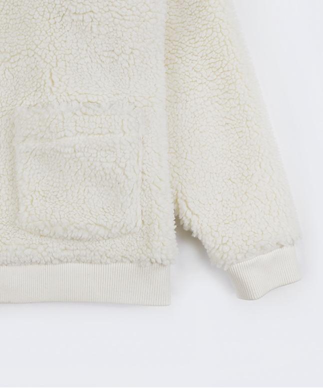 [프랑켄모노]자수로고 양털자켓 후리스 후드집업[B]