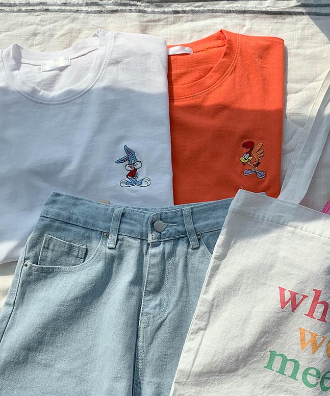 崔迪刺繡短袖T恤