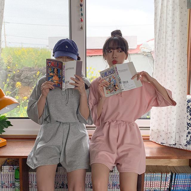 フードTシャツ+ショートパンツSET