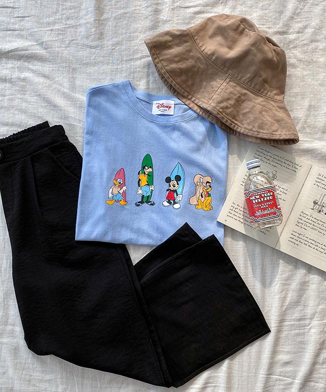 衝浪米奇短袖T恤(迪士尼正版)