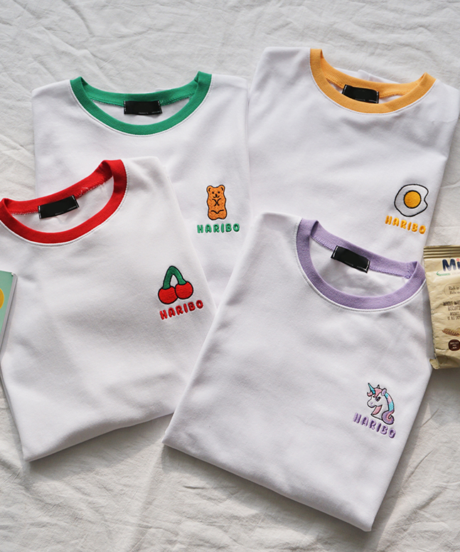 HARIBO刺繡短袖T恤(T)