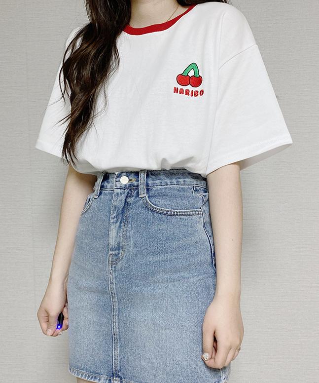HARIBO刺繡短袖T恤