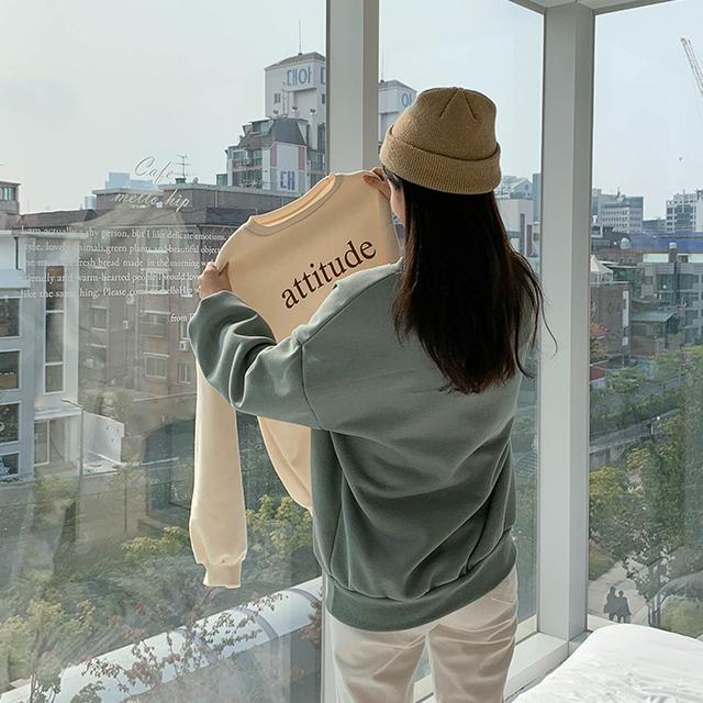 attitude起毛トレーナー(起毛)