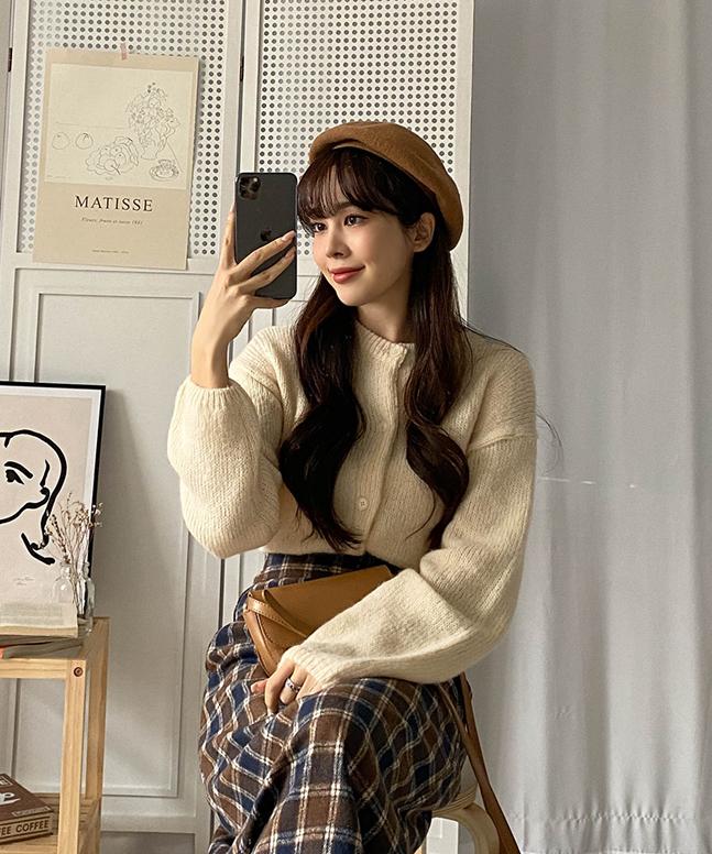 듀엣벌룬가디건(울+알파카)(G)