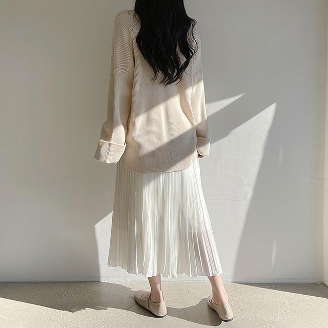 プリーツシフォンロングスカート