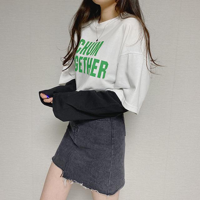 レイヤード長袖Tシャツ