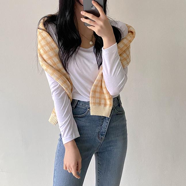 [1+1]スリムフィットTシャツ