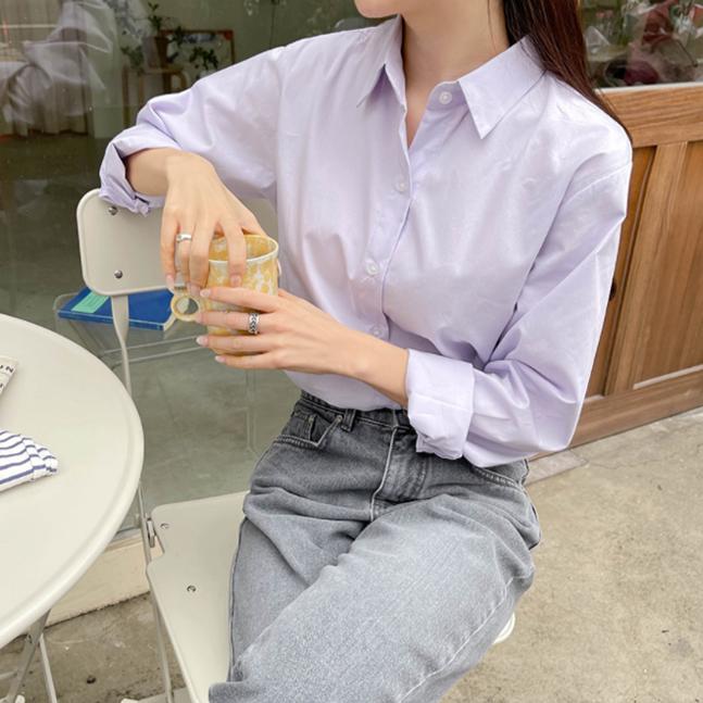 자꾸자꾸 파스텔 스탠다드핏 셔츠 7colors