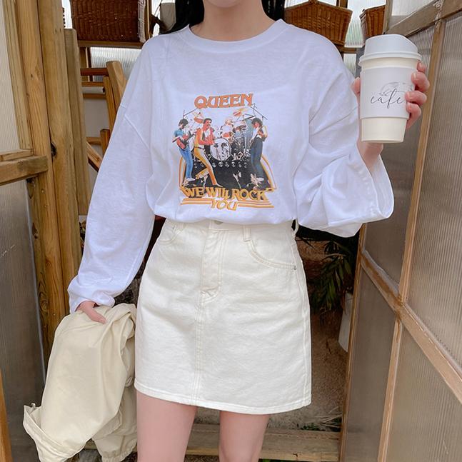 カジュアルプリントTシャツ(T)