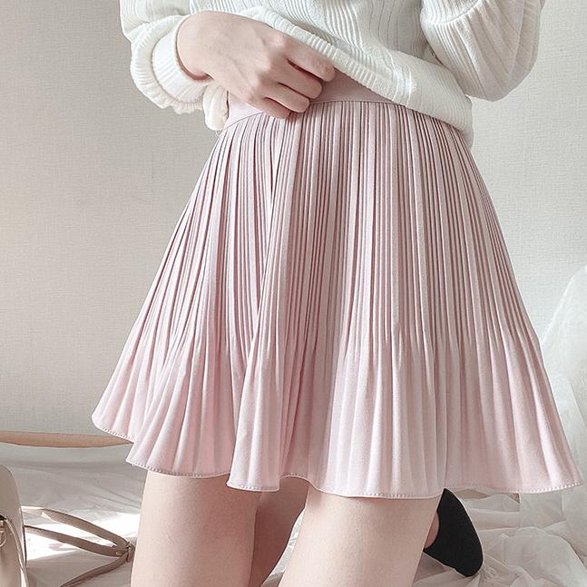 ロマンチックAラインプリーツスカート