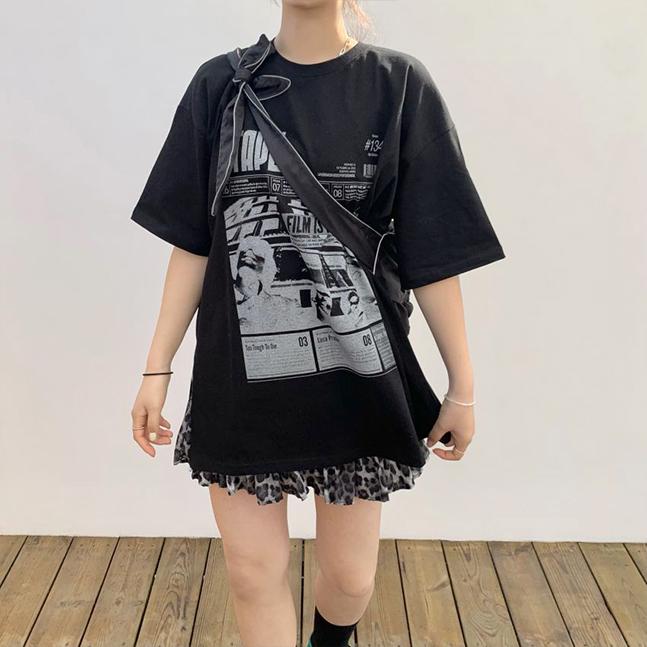 フィルムプリント半袖Tシャツ