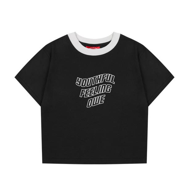 [OPWEE]配色クロップ半袖Tシャツ