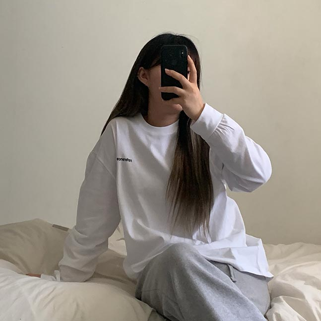 referenceバックプリント長袖Tシャツ