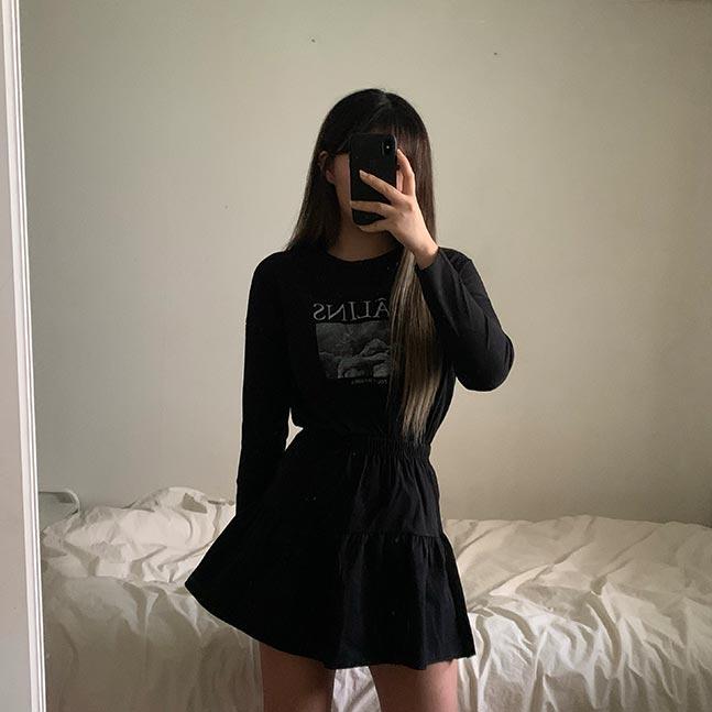 フレアバンディングスカート