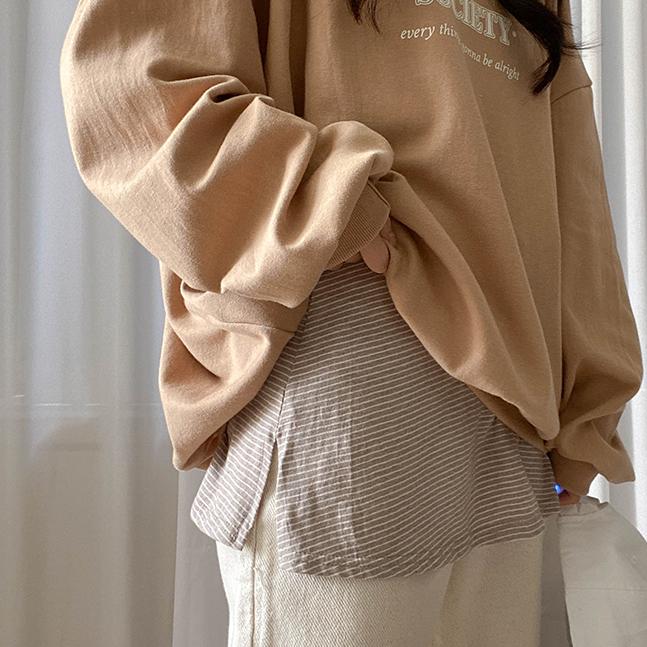 フェイクレイヤードTシャツスカート