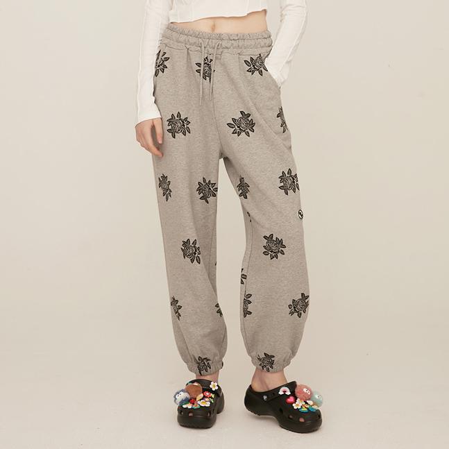 [RONRON]FLOWER PATTERN SWEAT PANTS