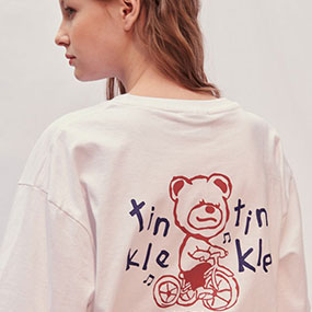 [엠블러]엠블러 남여공용 오버핏 반팔 티셔츠 AS812