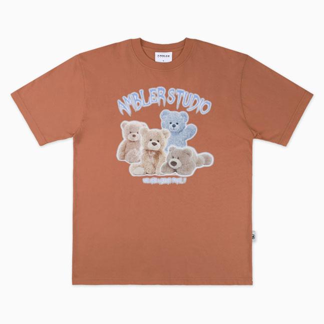 [AMBLER]男女共用オーバーフィット半袖Tシャツ AS813