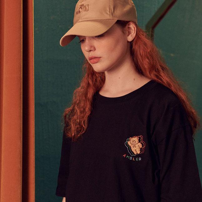 [AMBLER]男女共有オーバーフィット半袖Tシャツ AS823