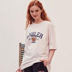 [엠블러]엠블러 남여공용 오버핏 반팔 티셔츠 AS826