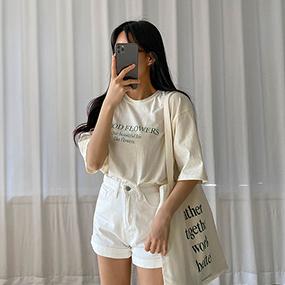 MOOD FLOWERSレタリングTシャツ