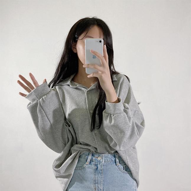 バルーン袖コットンシャツ