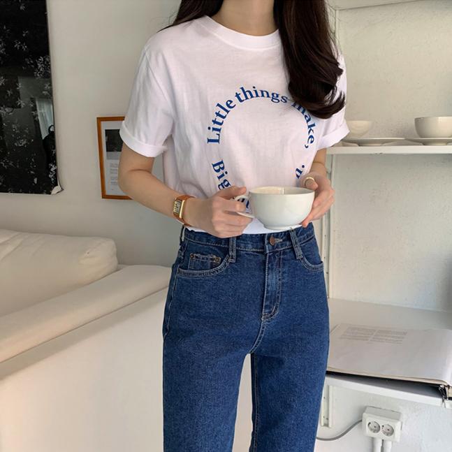 ラウンドレタリング半袖Tシャツ