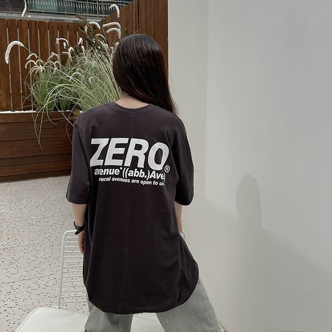 ZEROバックプリント半袖Tシャツ