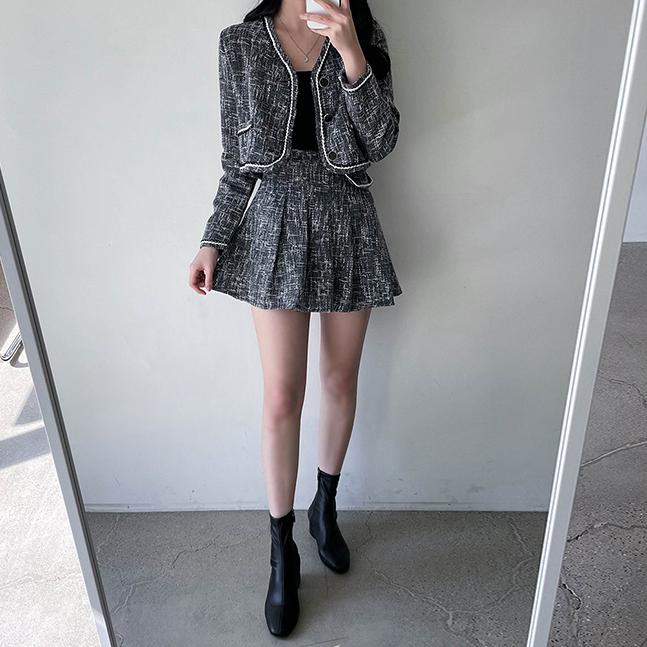 ツイードジャケット+スカートセット