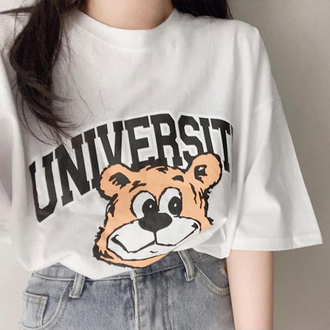 UNIVERSITYプリント半袖Tシャツ
