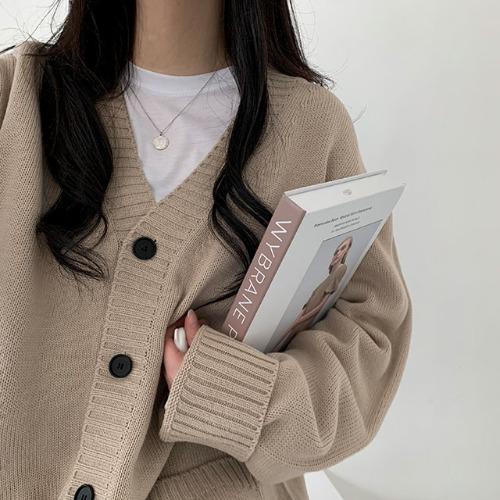 男女共用ツーポケットカーディガン8色