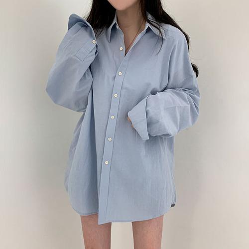 男女共用オーバーフィットシャツ10色