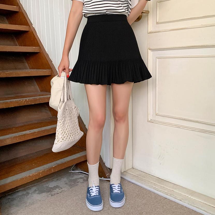 Aラインプリーツスカート