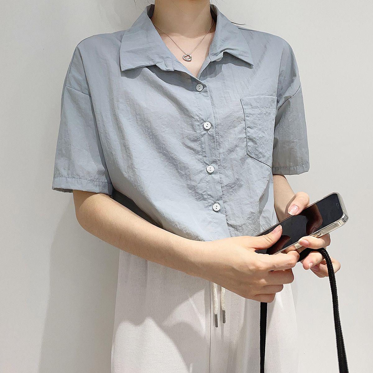 クロップ半袖シャツ